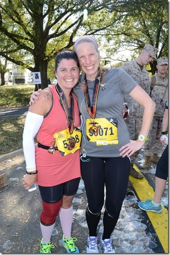 Marine Corp Marathon Recap - Part 2: The Marine Corp Marathon may be my slowest marathon time, but it was also by far my favorite race experience - from the beautiful course, to the amazing Marines, to seeing Sarah cross the finish line of her first marathon, this weekend was more than I could have ever dreamed of