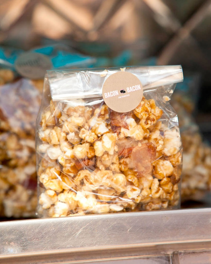 Popcorn With Pecorino Romano And Bacon Recipe — Dishmaps