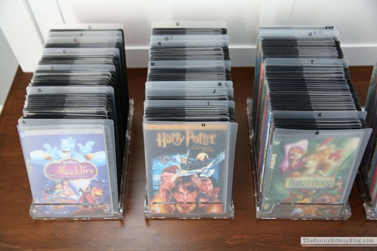 Organized DVD's! See details of this project on the blog! (Sunny Side Up)