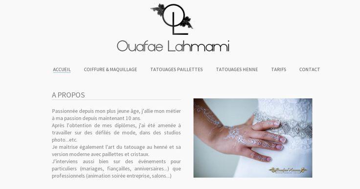 Coiffeuse maquilleuse également spécialisée en tatouage au henné/poudre de diamant.