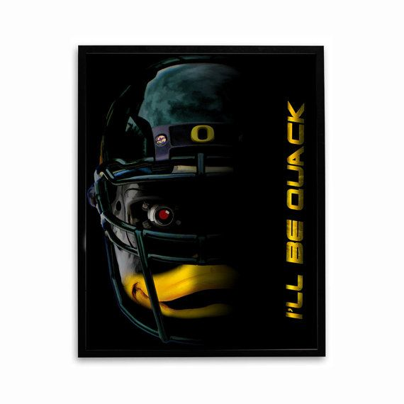 Oregon Ducks Football Poster I'll Be Quack by SportPostersUSA, $7.95
