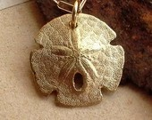 Sand Dollar Necklace - Sterling Silver - Bumpy - Nature Inspired - Organic - Beach Jewelry - Cottage Chic - Sea Biscuit Necklace. $40.00, via Etsy.