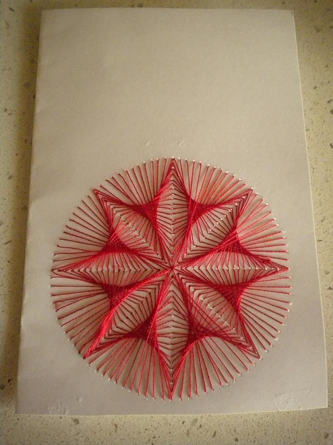 String Art on paper abstract design