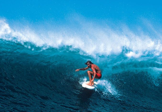 R.I.P. Michael Peterson | SURFER Magazine  Crouching almost completely.  I chose this photo because it is a different position from the others