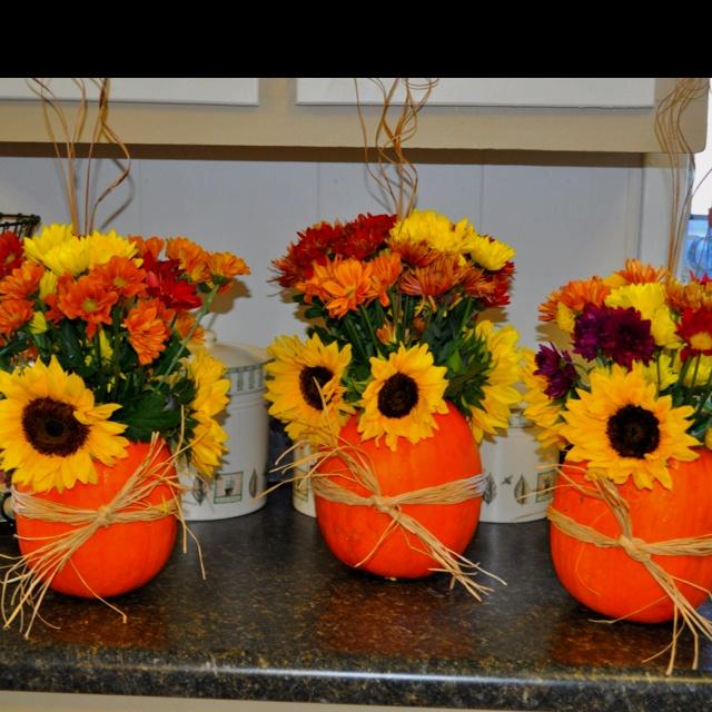 Sunflower arrangements fall sunflower wedding table arrangements - 43 Best Pumpkin Flowers Images On Pinterest Flower