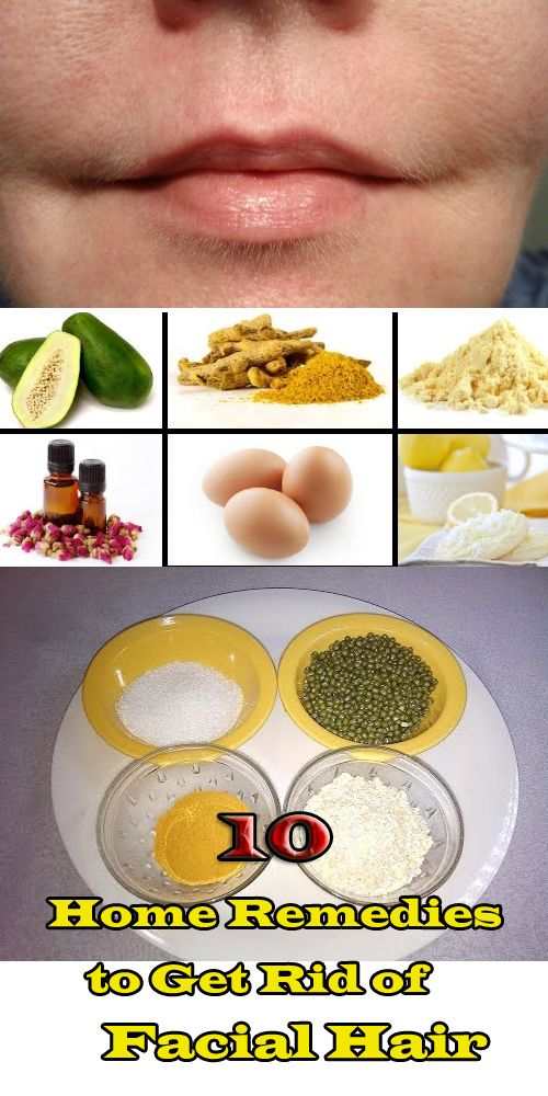 Remove unwanted facial hair with natural home remedies using either chickpea flour, wheat bran, potatoes or lemon juice.