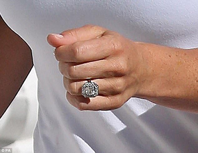 A is for the £200,000, four-carat Asscher cut diamond (a stepped, square-cut) engagement r...