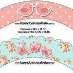 Lindo Kit Jardim Encantado Vintage Floral para Imprimir Com molduras para convites, rótulos para guloseimas, lembrancinhas e imagens de graça!