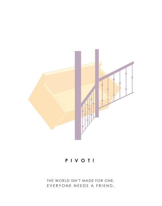 Friends poster // pivot // TV poster // Friends Wall Art // by MMcKinneyDesigns