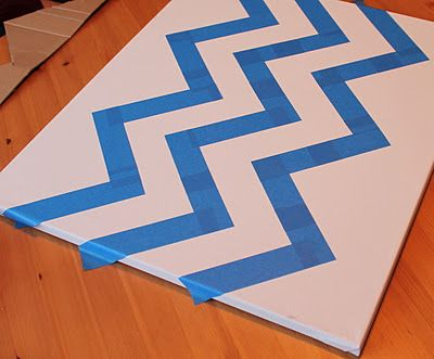 for top of nursery wall.  leave one chevron in current wall color, paint one above in new color, let ceiling paint come down onto wall....
