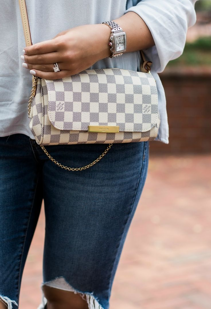 Louis Vuitton, damier azur, favorite pm, Louis Vuitton crossbody