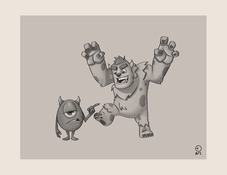 """#29No matter how cute they looks, they are still monsters """"Mike and Sullivan - Monsters inc""""#pixar #MonstersInc #Monsters #MikeandSullivan"""