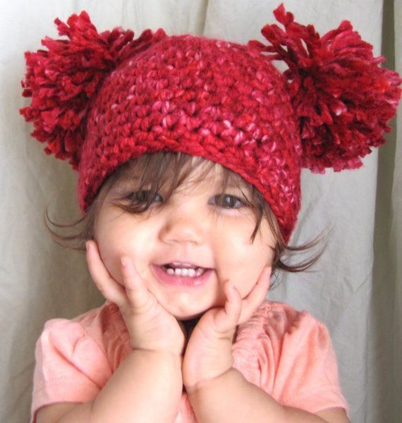 Crochet Baby Hat Pattern With Pom Pom : Pin by Cri Cat on Design projects Pinterest