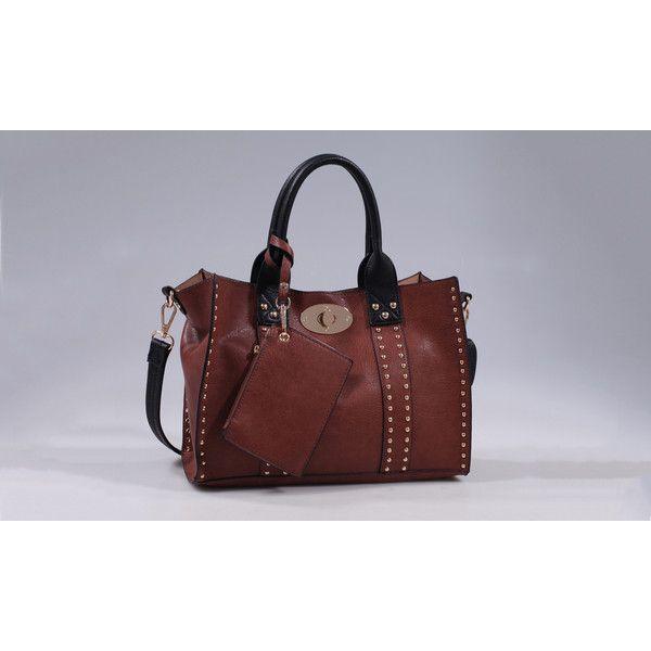 Deluxity Carly Satchel Handbag (€28) ❤ liked on Polyvore featuring bags, handbags, brown, handbags & wallets, satchel hand bags, brown purse, brown satchel handbag, satchel handbags and satchel purse