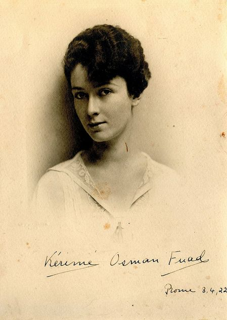 H.H. Princess Kerime Halim, wife of Osman Fuad, the former head of the Imperial House of Osman
