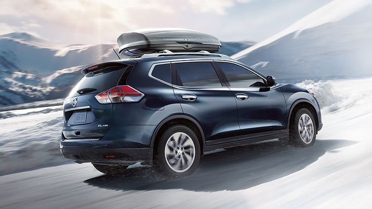 <strong>Nissan Rogue<sup>®</sup> SL AWD</strong> shown in Arctic Blue Metallic with optional equipment
