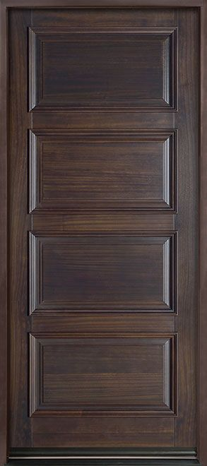 Classic Series Mahogany Solid Wood Front Entry Door - Single - DB-4000PW