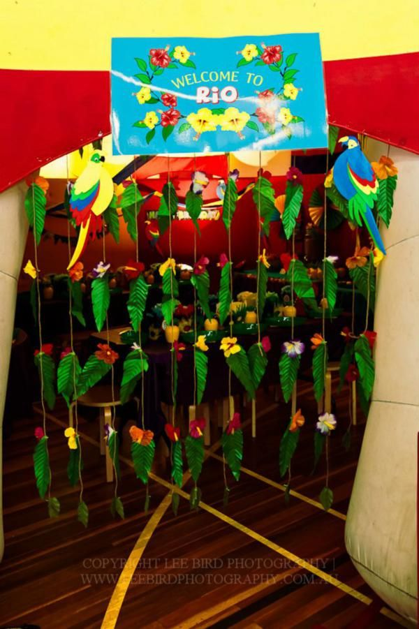 """""""Rio"""" Themed 4th Birthday Jungle, Bird Party - Kara's Party Ideas - The Place for All Things Party"""