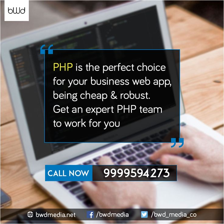 #PHP is the perfect choice for your #business web app, being cheap and robust. #bwdmedia #WebDevelopment  https://bwdmedia.net/
