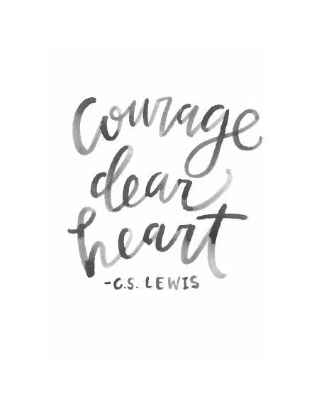 8x10 Courage Dear Heart Watercolor Print by SarahTateDesign