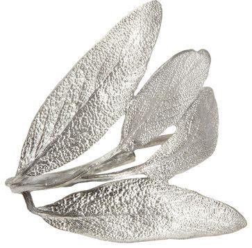 Table Art Sage Silver Napkin Ring - contemporary - Napkin Rings - Barneys New York