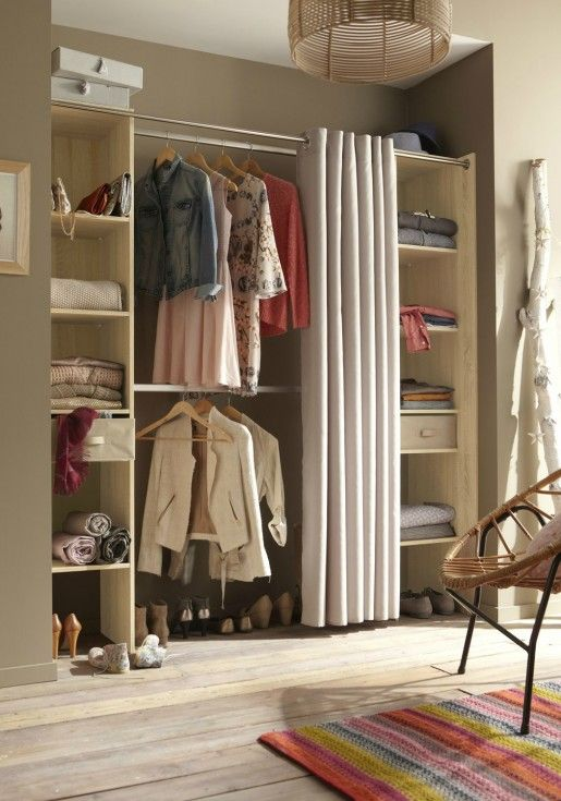 Best 25 dressing avec rideau ideas on pinterest - Dressing ferme par un rideau ...
