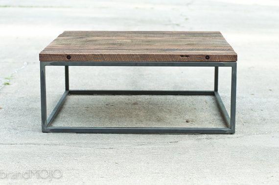 Industrial Hardwood Coffee Table - The Mason's Bench - Custom Furniture