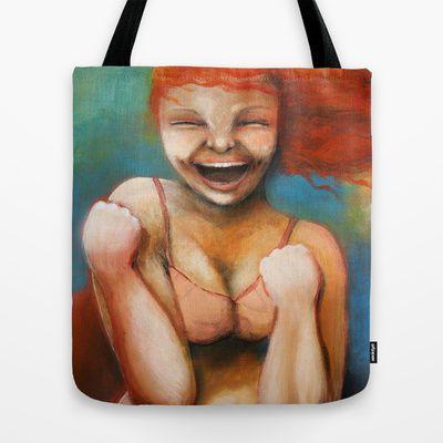 Yesss! Tote Bag by Malin Östlund - $22.00