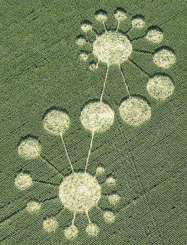 crop-circles, even though personally I think they're man made