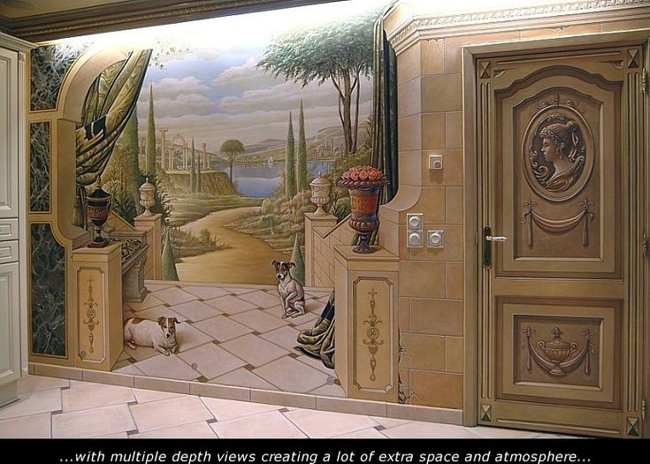 Classical Painted Mural Made By Eddie VAN HOEF.