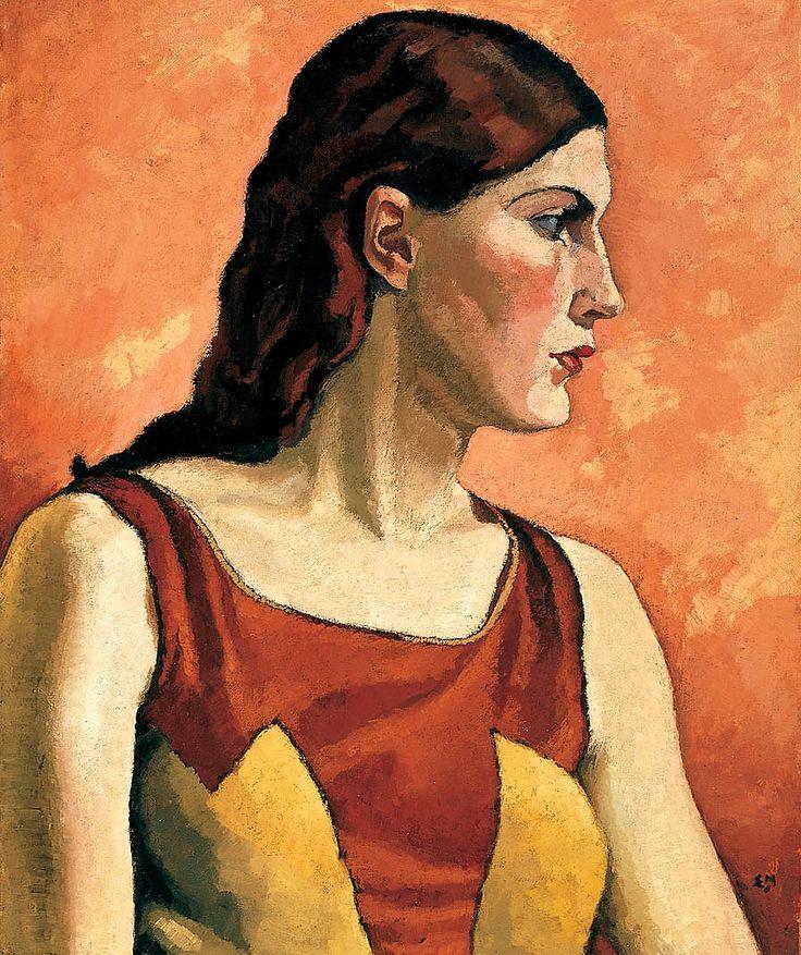 HOLGATE, Edwin, (1892-1977) Canadian artist: -- 'Portrait of a Woman', 1930