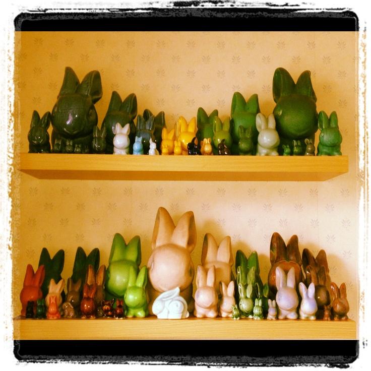 Denby rabbits.