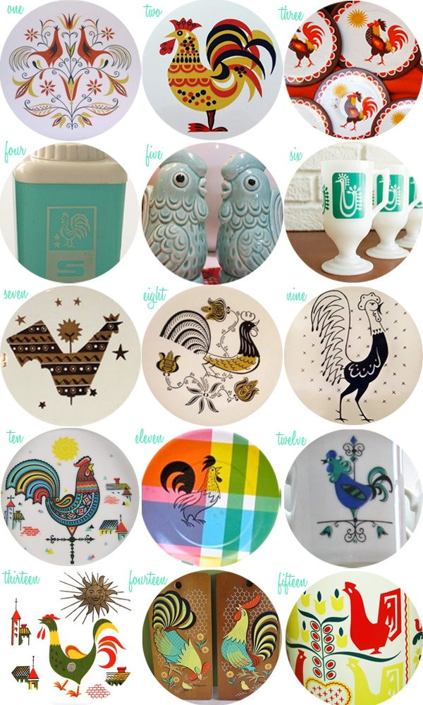 Oh So Lovely Vintage: Rooster-crazy!