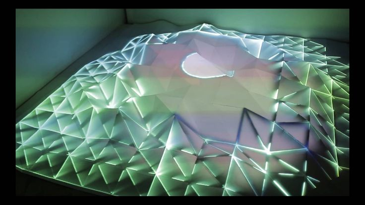 Topologie -  interaktives Videomapping auf Papiertopologie on Vimeo