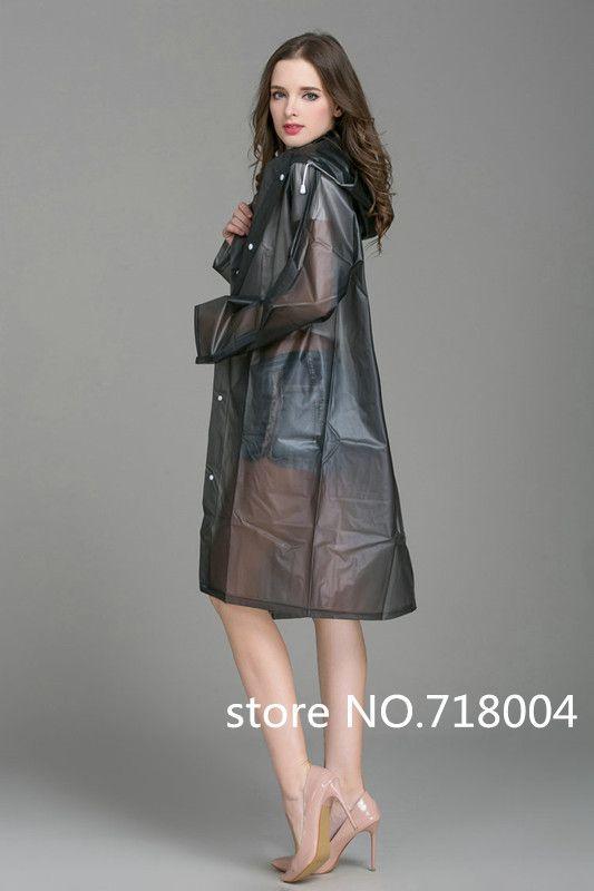 PVC Imperméable Transparent poncho Femmes Hommes imperméable long manteau de pluie ponchos Veste Chubasqueros Impermeables Mujer