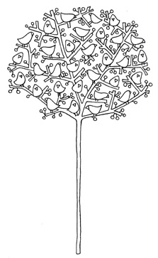 Birds of the Tree Embroidery Pattern