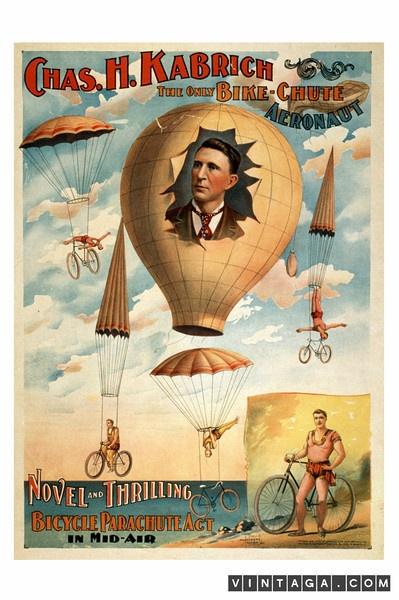 The Only Bike-Chute Aeronaut
