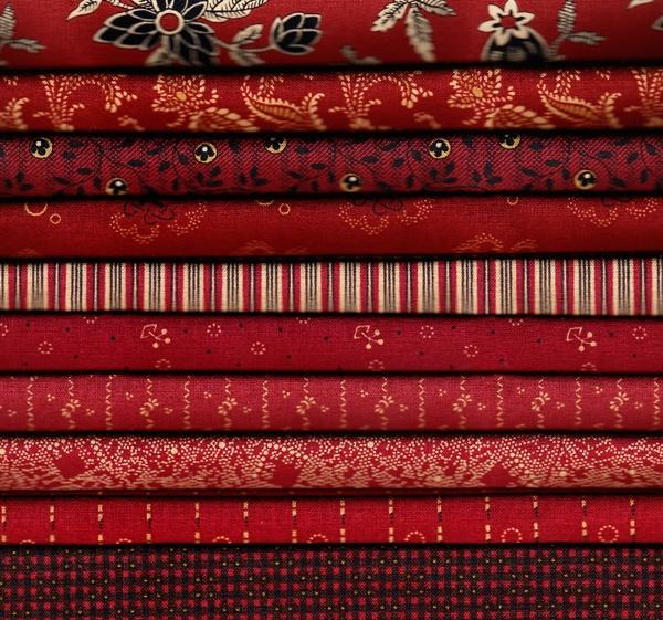 """Bridgeport """"Reds"""" Fat Quarter Bundle - 10 fabrics: Fat Quarter"""