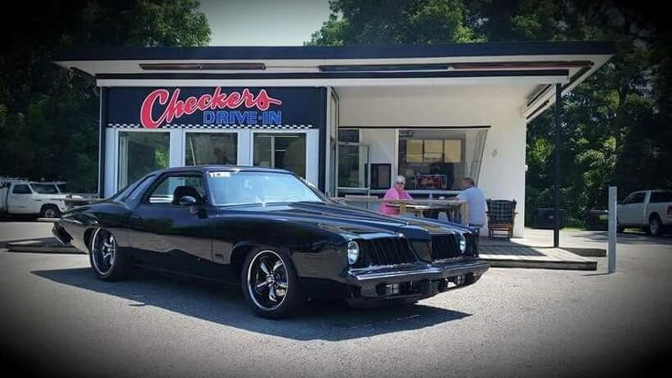 """Thumbs Up? Mike Brown Shares His 1974 Pontiac Grand Am  """"It has a built 6.0 with a custom Big 3 Racing twin turbo set up. The car has all the Holley Performance Products EFI, injectors,intake, & fuel system....Also Has Air ride suspension, Coys wheels, custom interior and lots more"""" #TBT #throwbackthursday #pontiac #grandam"""