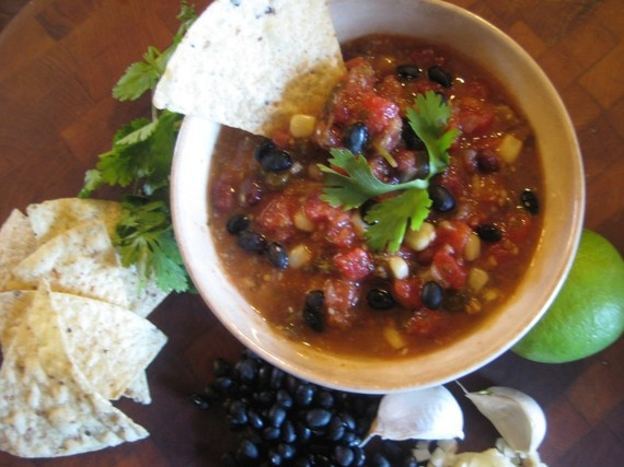 Corn And Black Bean Huevos Rancheros With Roast Zucchini Salsa Recipe ...