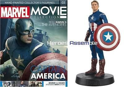 #Marvel movie collection #3 captain america #figurine & #magazine eaglemoss new,  View more on the LINK: http://www.zeppy.io/product/gb/2/351723570631/