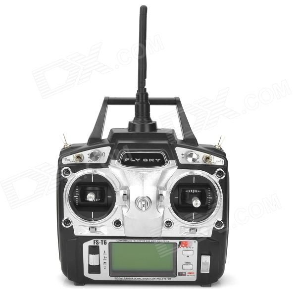 Flysky FS-T6 6-CH TX Transmitter + Radio Control System - Black - Free Shipping - DealExtreme