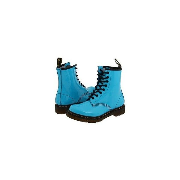 R5 Photo Preference the Dr. Martens They Get You Smile. You're... ❤ liked on Polyvore featuring shoes, boots, blue, botas, dr. martens, dr martens footwear, blue boots, blue shoes and dr martens shoes