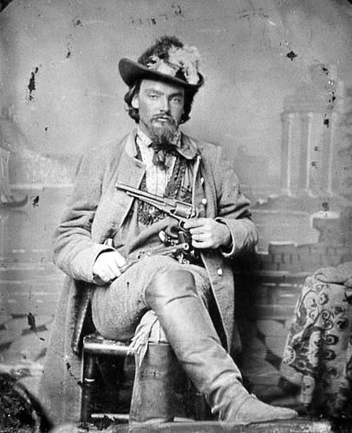 "Quantrill's Raider George Maddox (1831-1901) - Main Scout- & Pro-Confederate ""Bushwhacker"" Survived the War In January 1862, Maddox, along with Fletch Taylor and others, joined William C. Quantrill's band as some of the guerrilla chieftain's earliest recruits. Maddox participated in actions at Pleasant Hill, Missouri 1862, Lawrence, Kansas 1863, Baxter Springs, Kansas 1863 and Centralia, Missouri, 1864."