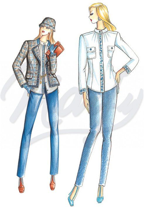 Mt 1 30 alt 1 40 Available in sizes 42 46 This blouse has a stand-up collar that secures gathers at the armhole embroidered facing or silk trim and rounded hemline To combine with the jacket 2922