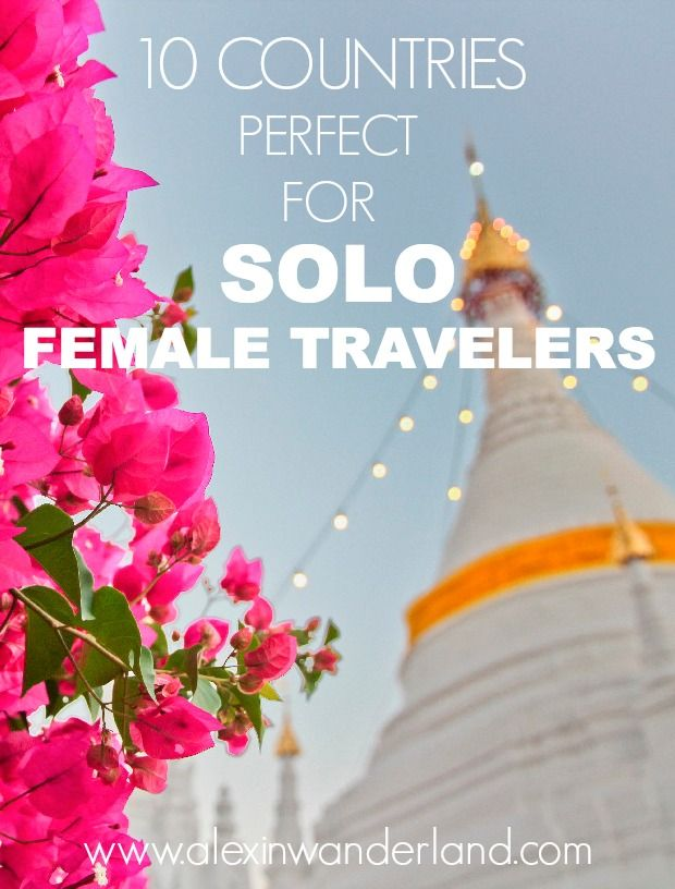 10 countries perfect for solo women travelers! Top picks by alexinwanderland.com | Alex in Wanderland #solotravel