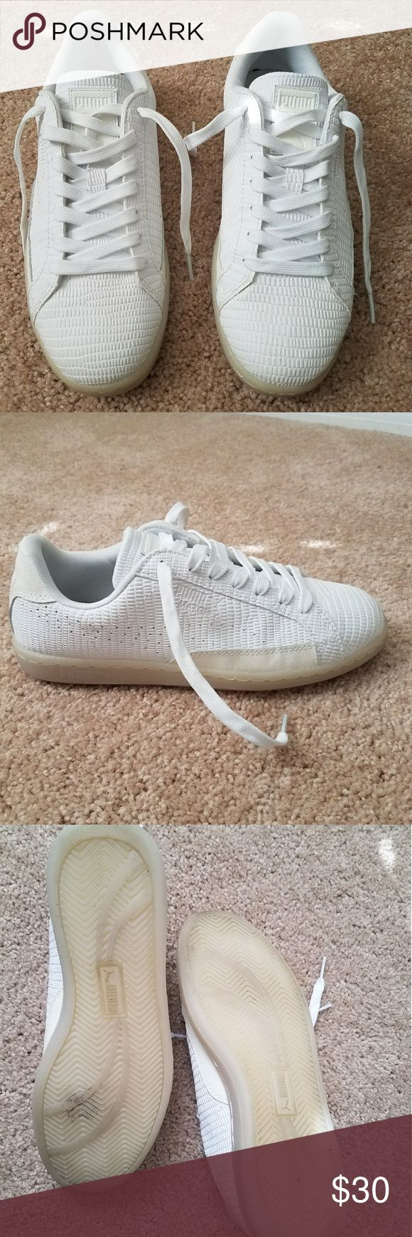 Puma tennis shoes Only worn twice Puma white tennis shoes. Puma Shoes Athletic Shoes