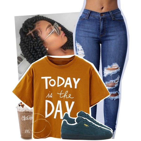 A fashion look from June 2016 featuring Puma sneakers. Browse and shop related looks.