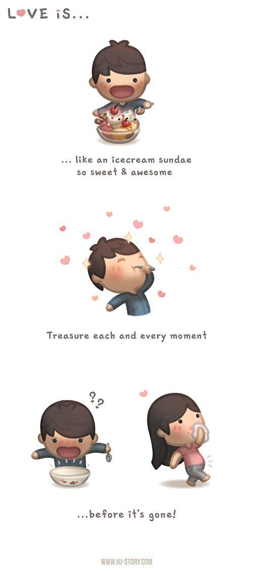 ★ Fiery Red ★ 21 Cute Illustrations Defining True Love.