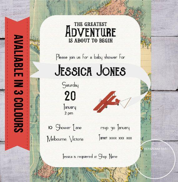 baby shower invitation adventure printable by digitalsociety